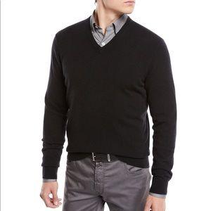 J Crew 100% Cashmere V Neck Sweater